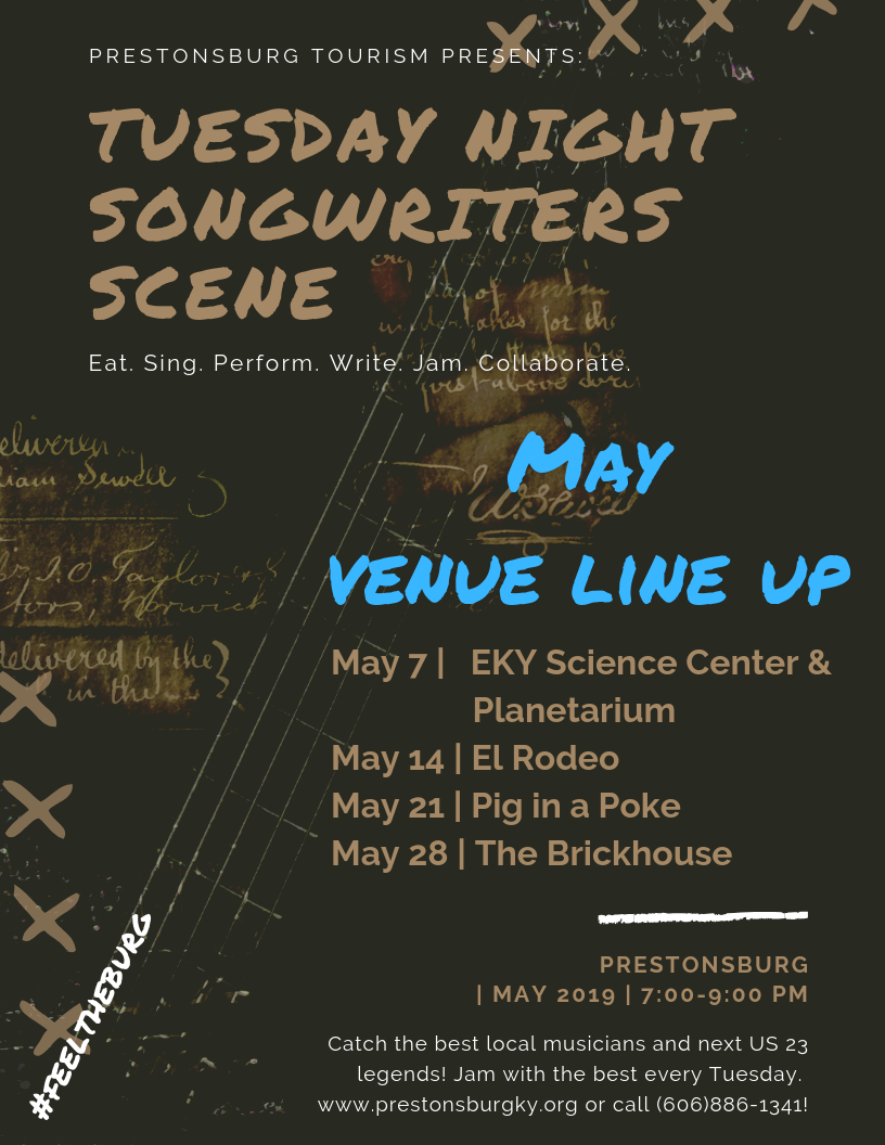 May Tuesday Night Songwriters' Scene | Prestonsburg Tourism